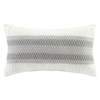 INK+IVY Shiloh Embroidered Oblong Throw Pillow