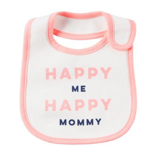 "Baby Girl Carter's ""Happy Me Happy Mommy"" Graphic Bib"