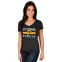 Women's Majestic Pittsburgh Pirates One Game at a Time Tee