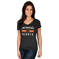 Women's Majestic San Francisco Giants One Game at a Time Tee