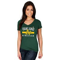 Women's Majestic Oakland Athletics One Game at a Time Tee