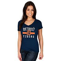 Women's Majestic Detroit Tigers One Game at a Time Tee