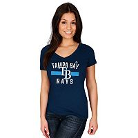 Women's Majestic Tampa Bay Rays One Game at a Time Tee