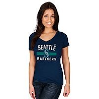 Women's Majestic Seattle Mariners One Game at a Time Tee