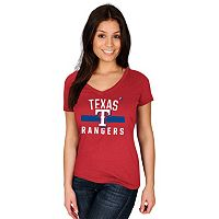 Women's Majestic Texas Rangers One Game at a Time Tee