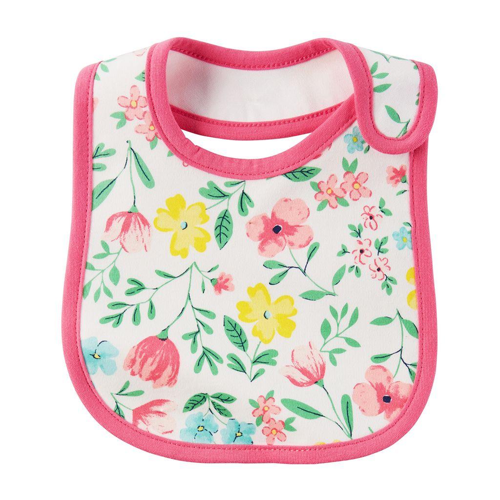 Baby Girl Carter's Floral Bib