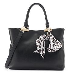 Apt. 9® Jade Soft Satchel with Botanical Skinny Scarf