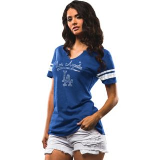 Women's Majestic Los Angeles Dodgers Spirit Awareness Tee