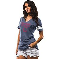 Women's Majestic Cleveland Indians Spirit Awareness Tee