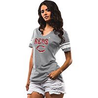 Women's Majestic Cincinnati Reds Two Seamer Tee