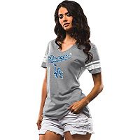 Women's Majestic Los Angeles Dodgers Two Seamer Tee