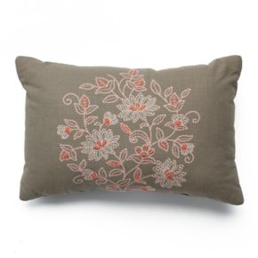 SONOMA Goods for Life™ Embroidered Floral Throw Pillow