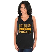 Women's Majestic Pittsburgh Pirates Four Seamer Tank