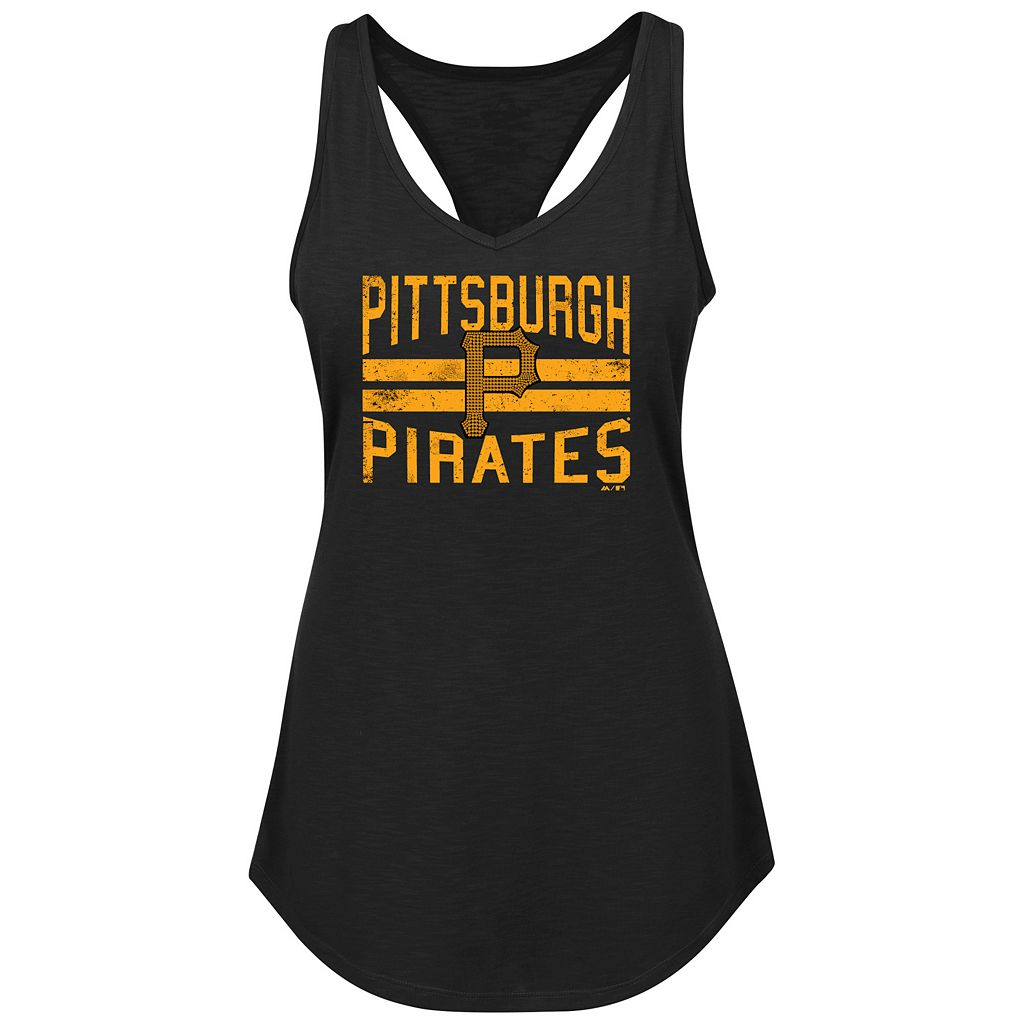 Women's Majestic Pittsburgh Pirates Four Seamer Tank
