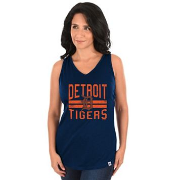 Women's Majestic Detroit Tigers Four Seamer Tank
