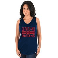 Women's Majestic Cleveland Indians Four Seamer Tank