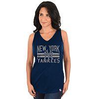 Women's Majestic New York Yankees Four Seamer Tank