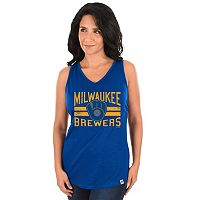 Women's Majestic Milwaukee Brewers Four Seamer Tank