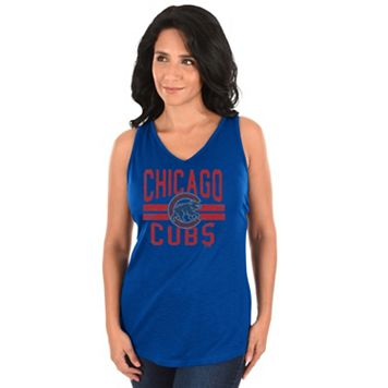 Women's Majestic Chicago Cubs Four Seamer Tank