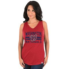 Women's Majestic Washington Nationals Four Seamer Tank