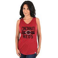 Women's Majestic Cincinnati Reds Four Seamer Tank