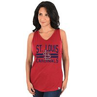 Women's Majestic St. Louis Cardinals Four Seamer Tank