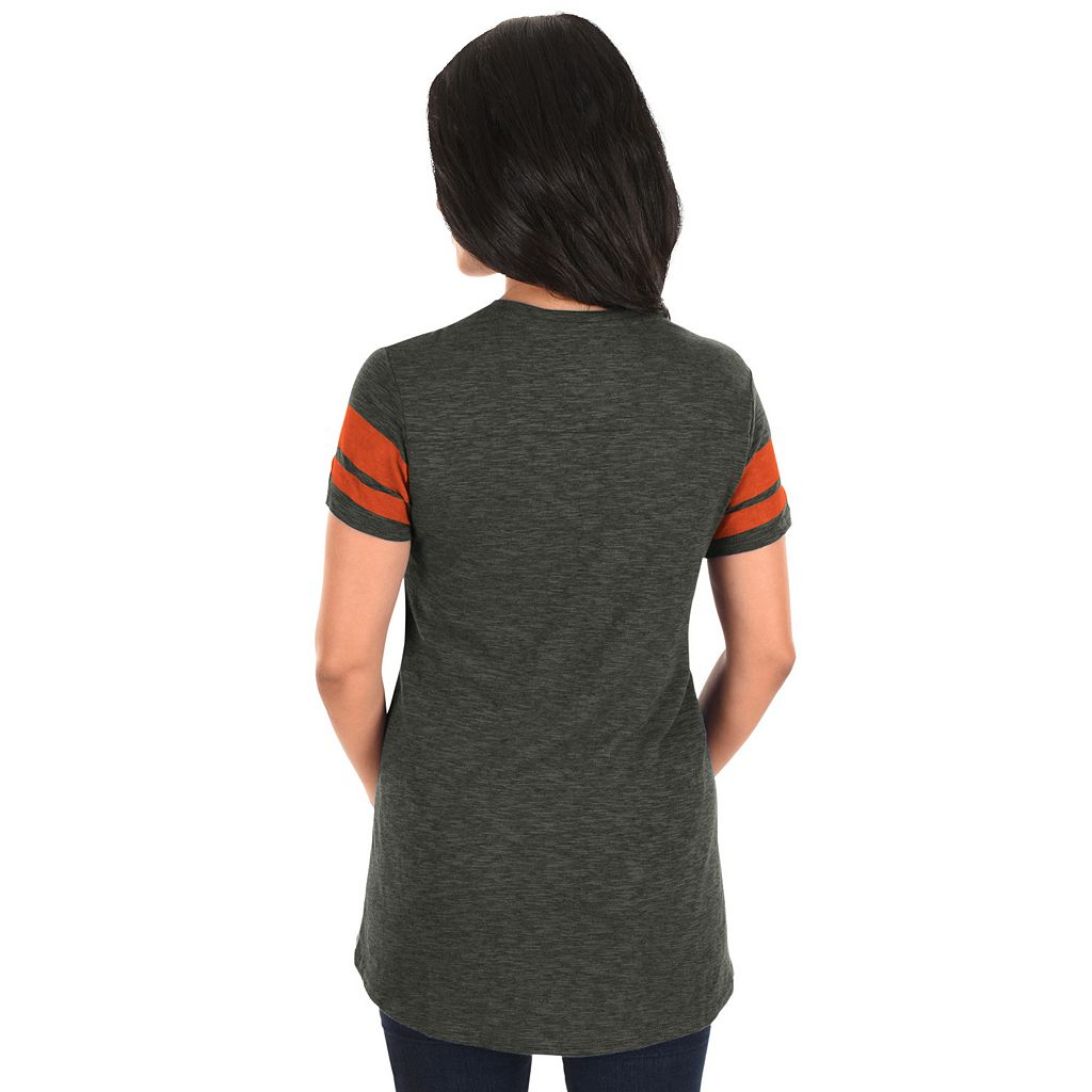 Women's Majestic Baltimore Orioles Check the Tape Tee