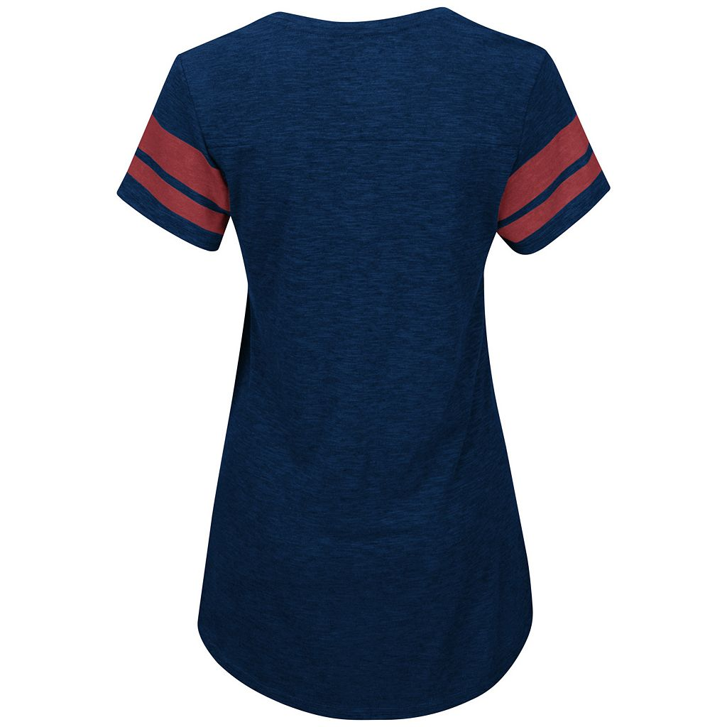 Women's Majestic Boston Red Sox Check the Tape Tee