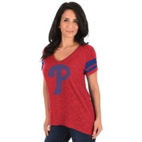 Women's Majestic Philadelphia Phillies Check the Tape Tee