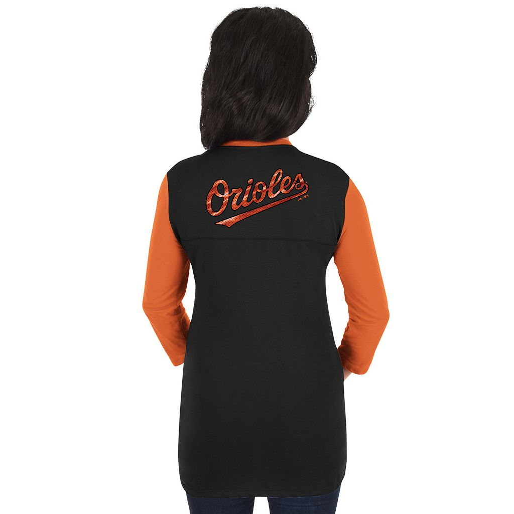 Women's Majestic Baltimore Orioles Above Average Tee