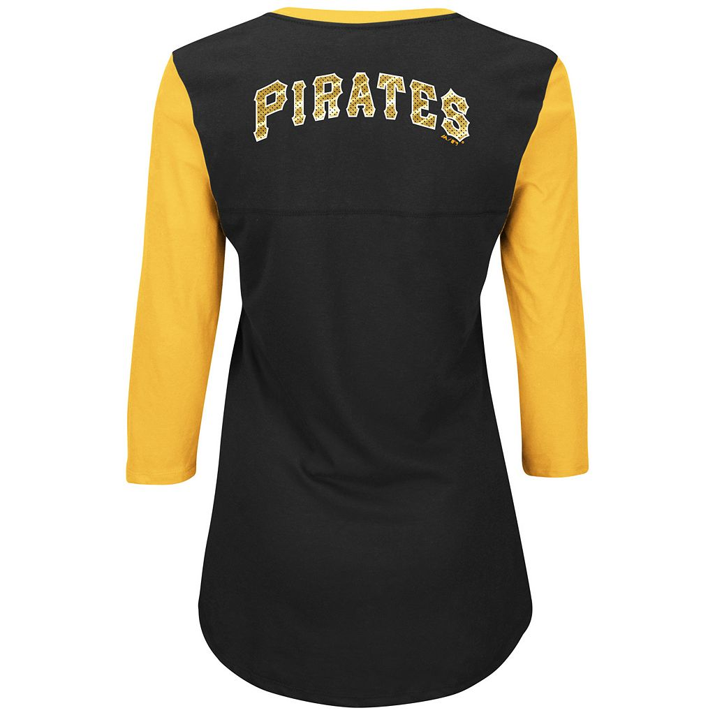 Women's Majestic Pittsburgh Pirates Above Average Tee