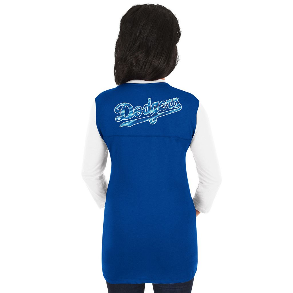 Women's Majestic Los Angeles Dodgers Above Average Tee