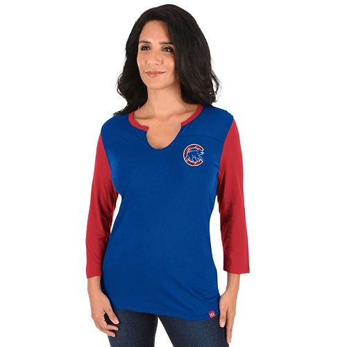 Women's Majestic Chicago Cubs Above Average Tee