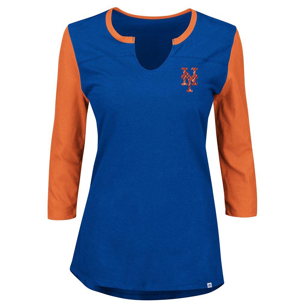 Women's Majestic New York Mets Above Average Tee