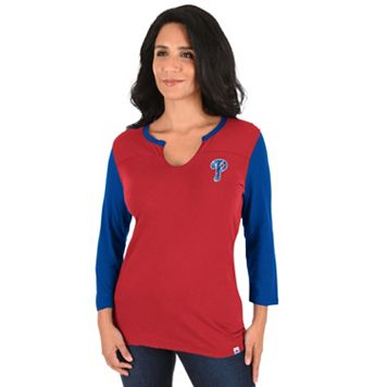 Women's Majestic Philadelphia Phillies Above Average Tee