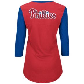 Women's Majestic Philadelphia Phillies Above Average Tee