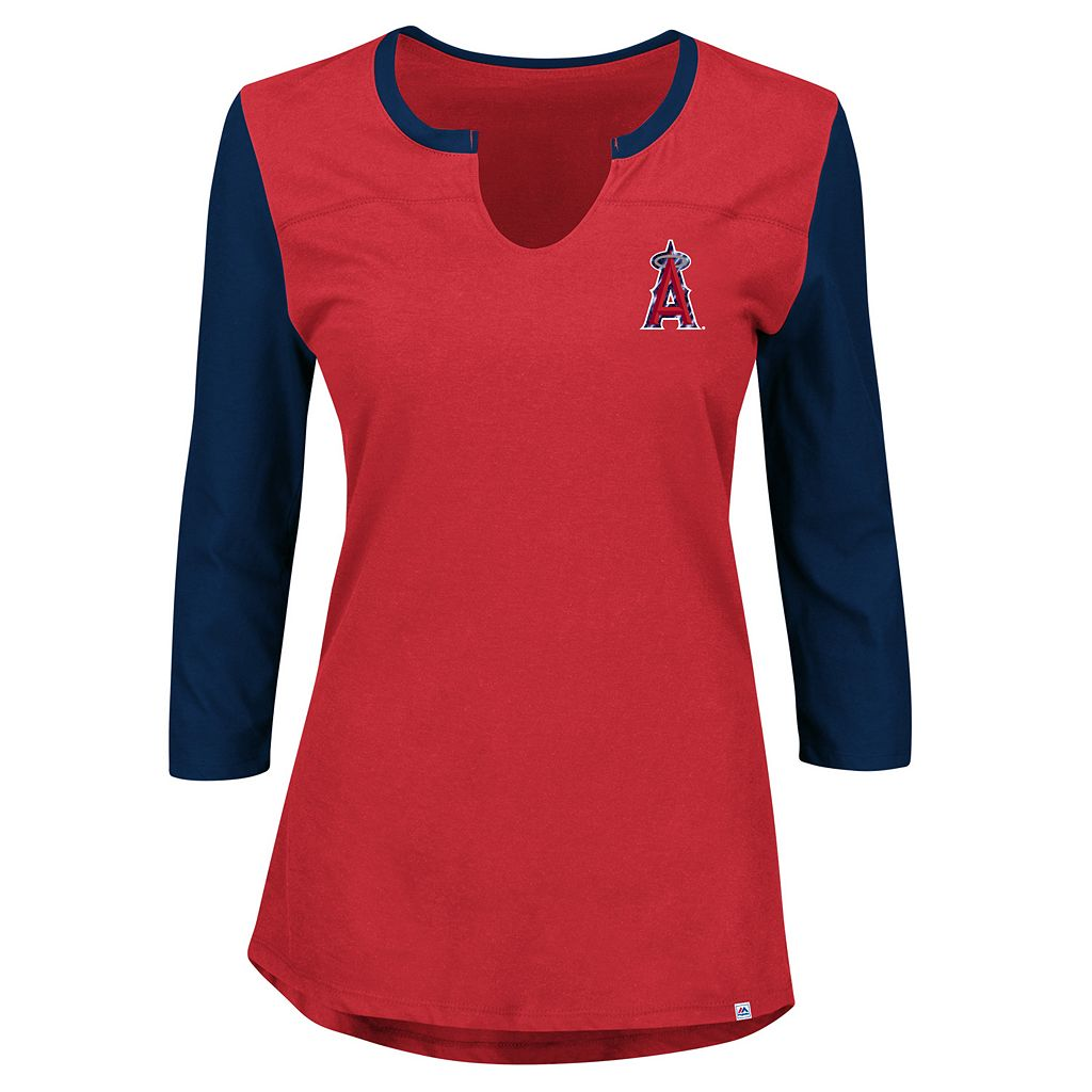 Women's Majestic Los Angeles Angels of Anaheim Above Average Tee