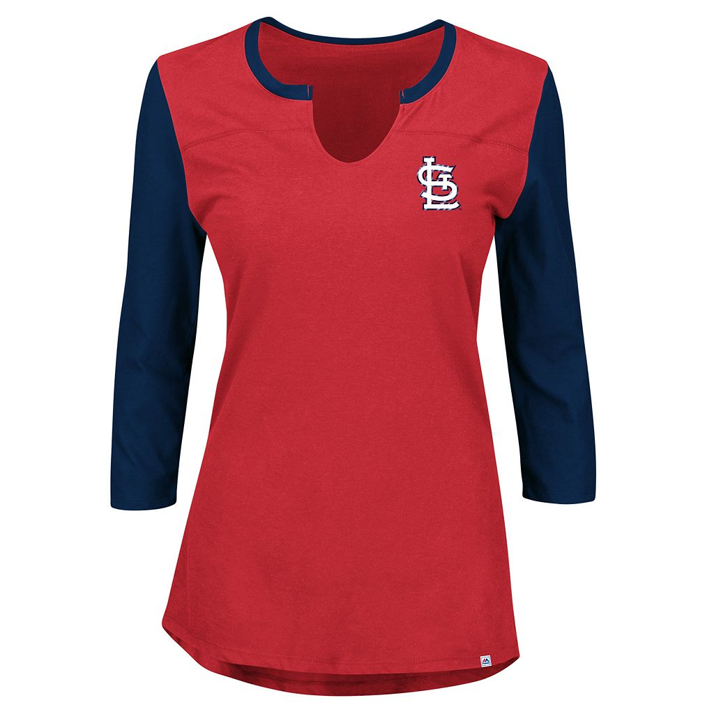 Women's Majestic St. Louis Cardinals Above Average Tee