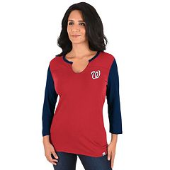 Women's Majestic Washington Nationals Above Average Tee