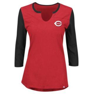 Women's Majestic Cincinnati Reds Above Average Tee