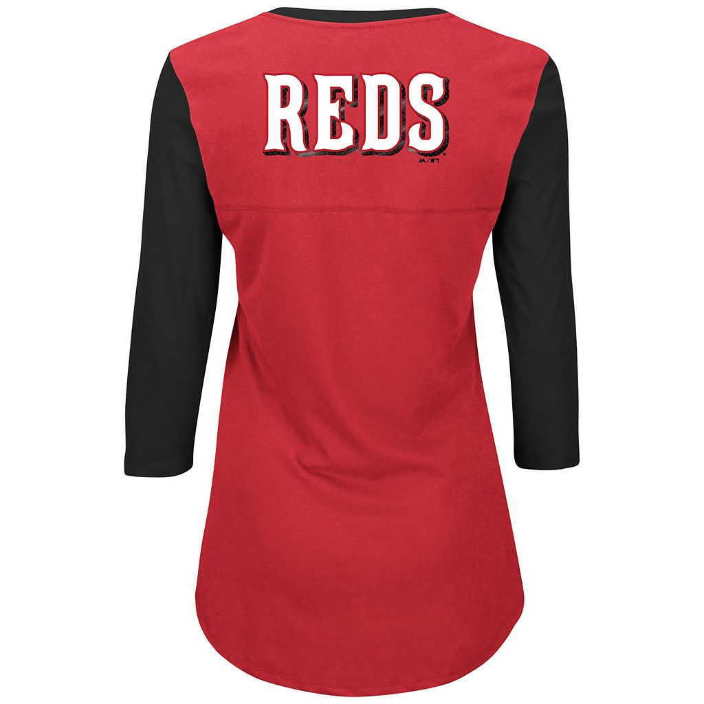 Women's Majestic Cincinnati Reds Above Average Tee