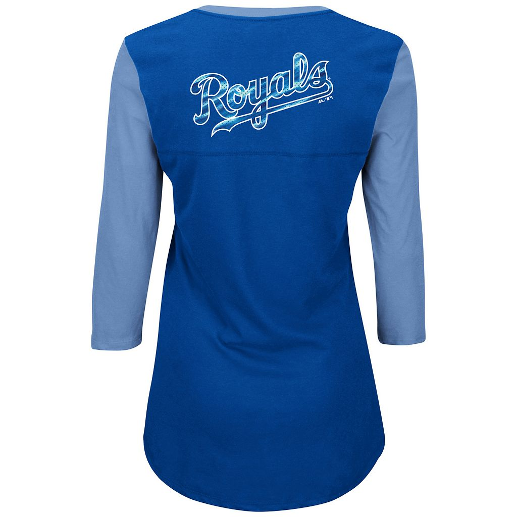 Women's Majestic Kansas City Royals Above Average Tee
