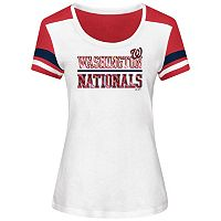 Women's Majestic Washington Nationals Overwhelming Victory Tee