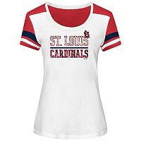 Women's Majestic St. Louis Cardinals Overwhelming Victory Tee