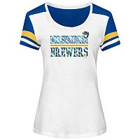Women's Majestic Milwaukee Brewers Overwhelming Victory Tee