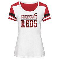 Women's Majestic Cincinnati Reds Overwhelming Victory Tee