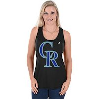 Women's Majestic Colorado Rockies Tested Tank Top