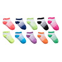 Girls 4-16 SO® 10-pk. Dot Low-Cut Socks
