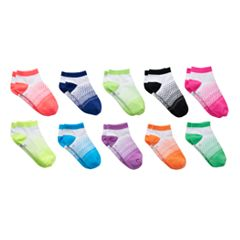 Girls 4-16 SO® 10 pkDot Low-Cut Socks