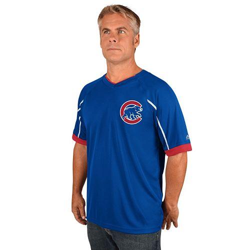 Men's Majestic Chicago Cubs Emergance V-Neck Tee